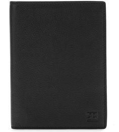 Черная кожаная обложка для паспорта Sergio Belotti