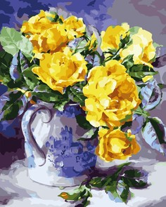 "Картина по номерам Color Kit ""Желтые розы"", 40x50"