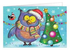 Набор для изготовления открытки Совушкина елка Клевер АБ 23-505 Clever