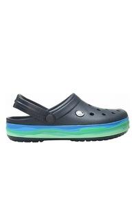 Сабо мужские Crocs Crocband wavy band clog-1 синие 45.5 RU
