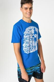 Футболка мужская BLUE SEVEN 302580 X голубая L
