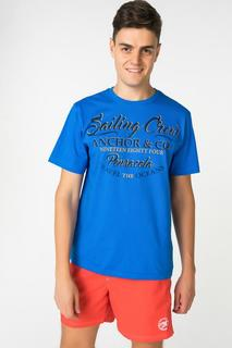 Футболка мужская BLUE SEVEN 302576 X голубая L