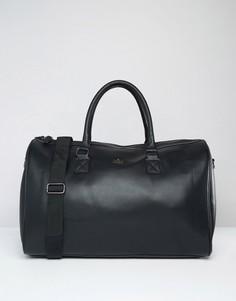 Черная сумка из искусственной кожи с золотистой отделкой ASOS DESIGN-Черный