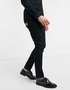 Черные джинсы скинни Versace Jeans-Черный