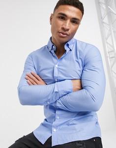 Рубашка с длинными рукавами и логотипом BOSS-Синий