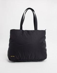 Черная дутая нейлоновая сумка-тоут Mi-Pac-Черный