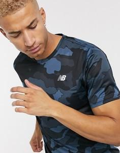 Серая футболка с камуфляжным принтом New Balance Running accelerate-Серый
