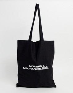 Черная сумка-тоут из органического хлопка ASOS DESIGN-Черный