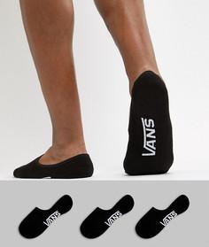 Набор из 3 пар черных ультракоротких носков Vans Classic VXTTBLK-Черный