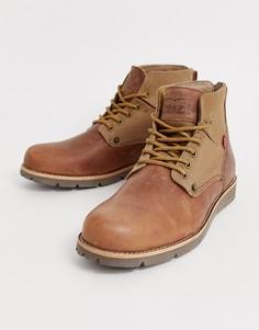 Кожаные походные ботинки коричневого цвета Levis Jax-Коричневый Levis®