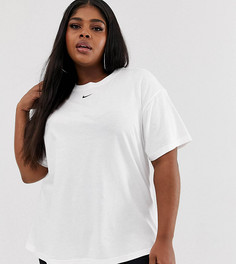 Белая футболка бойфренда с логотипом Nike Plus-Белый