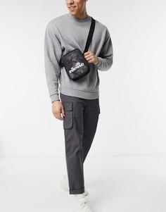 Черная сумка из ткани рипстоп ellesse-Черный