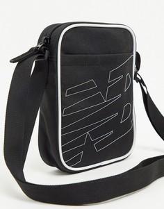 Черная сумка через плечо New Balance-Черный