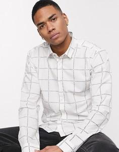 Белая рубашка со сплошным принтом логотипа HUGO Ero3-Белый