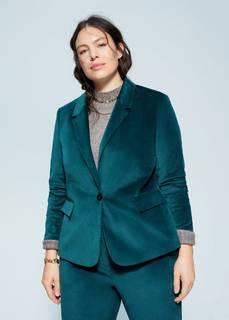 Бархатный костюмный пиджак - Jade Mango
