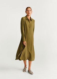 Длинное платье-рубашка - Alita-a Mango