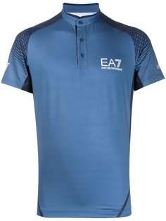 Ea7 Emporio Armani рубашка-поло с воротником-стойкой