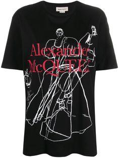 Alexander McQueen футболка с принтом