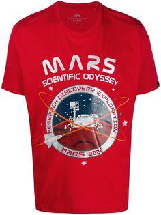 Alpha Industries футболка с принтом Mars 2020