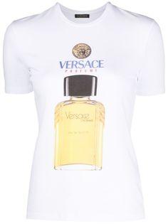Versace футболка узкого кроя с логотипом