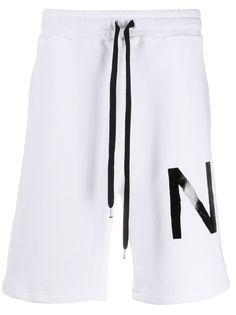 Nº21 спортивные шорты с логотипом