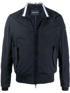 Emporio Armani спортивная куртка с отделкой в рубчик