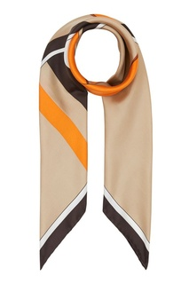 Бежевый платок с крупной монограммой Burberry