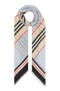 Легкий платок с принтами Burberry