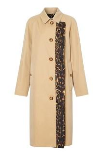 Пальто с леопардовой подкладкой Burberry