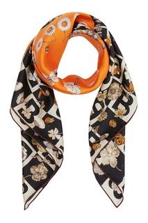 Шелковый платок с цветочным принтом Burberry