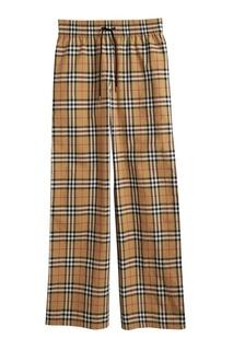 Широкие брюки с лампасами и узором Vintage Check Burberry