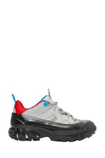 Комбинированные разноцветные кроссовки Burberry