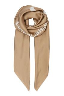 Шелковый платок песочно-бежевого цвета Burberry