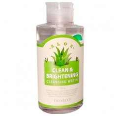 Deoproce очищающая вода для снятия макияжа с экстрактом алоэ Clean & Brightening Aloe Cleansing Water, 500 г