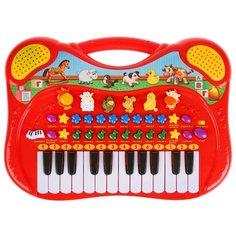 Умка пианино с функцией записи B969-H29076-R красный