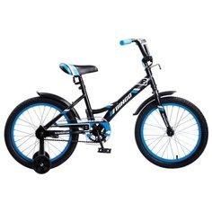 Детский велосипед Navigator Bingo (ВМ18098) черный/голубой (требует финальной сборки)