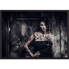 Постер в рамке Дом Корлеоне Девушка с татуировками 40x60 см