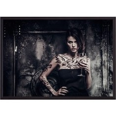 Постер в рамке Дом Корлеоне Девушка с татуировками 50x70 см