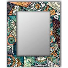 Настенное зеркало Дом Корлеоне Зеленый калейдоскоп 50x65 см