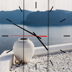 Настенные часы Дом Корлеоне Белая ваза 60x60 см