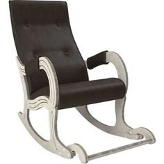 Кресло-качалка Мебель Импэкс Модель 707 дуб шампань/патина, к/з Vegas lite amber