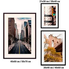 Набор из 3-х постеров Дом Корлеоне Коллаж Нью-Йорк №23 21х30 см 1 шт., 30х40 см 1 шт., 40х60 см 1шт.