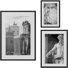Набор из 3-х постеров Дом Корлеоне Коллаж Рим №42 30х40 см 1 шт., 40х60 см 1 шт., 50х70 см 1шт.