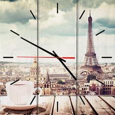 Настенные часы Дом Корлеоне Парижское утро 60x60 см