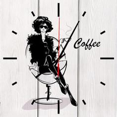 Настенные часы Дом Корлеоне Кофе 50x50 см