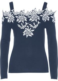 Пуловер с аппликацией Bonprix