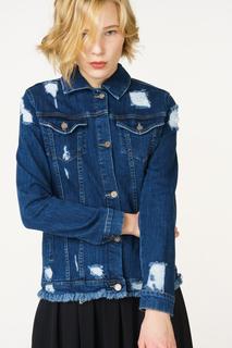 Джинсовая куртка женская adL 11930851001 синий S