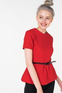 Блуза женская Incity 1.1.2.18.01.04.00650/191763 красная 40 RU