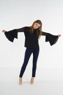 Блуза женская adL 11533199000 черная 42 RU