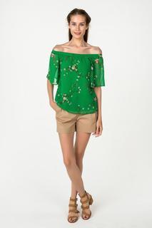 Блуза женская adL 11534639000 зеленая XS